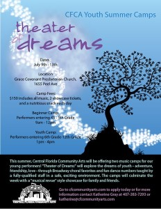 Theater of Dreams 3.21.12 Youth Camp Promo Flyer